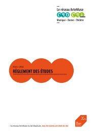 Réglement des études - Agglomération de Marne-la-Vallée / Val ...