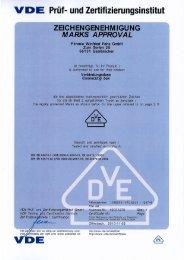 Vde-Zertifikat: E1000 - F-tronic