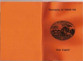 Nieuwsbrief 1986 11 (november) - Historische Vereniging Capelle ...
