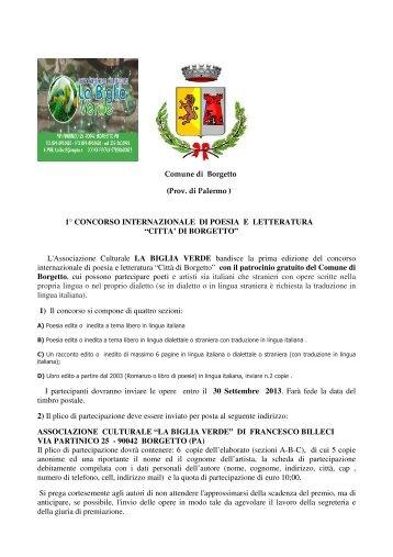 Bando premio poesia e letteratura Città di ... - Concorsi Letterari