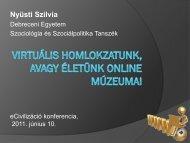 Nyüsti Szilvia - Campus-lét - Debreceni Egyetem
