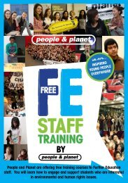 People and Planet are offering free training courses to Further ...