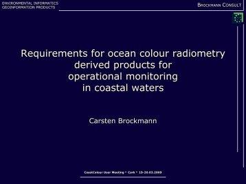 Carsten Brockmann - Data User Element - ESA