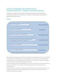 Zeitplan und Arbeitsprogramm - Wasser, Klimawandel & Hochwasser