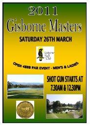 2011 Gisborne Masters Entry Form .pub - Gisborne Golf Club