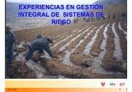 experiencias en gestión integral de sistemas de riego - Riesgo y ...