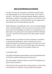 Zur Rede von Tiyan - Partei der Vernunft in Göttingen