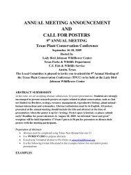 ANNUAL MEETING ANNOUNCEMENT - Oklahoma Biological Survey