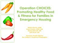 Operation CHOICES: Promoting Healthy Food & Fitness for Families ...