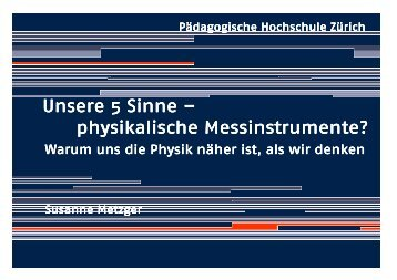 Unsere Sinne, physikalische Messinstrumente - Fachbereich ...