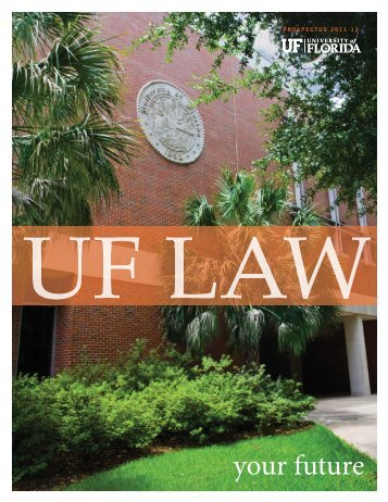 Prospectus - Levin College of Law - University of Florida