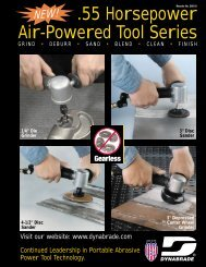 .55 Horsepower Air-Powered Tool Series - Dynabrade Inc.