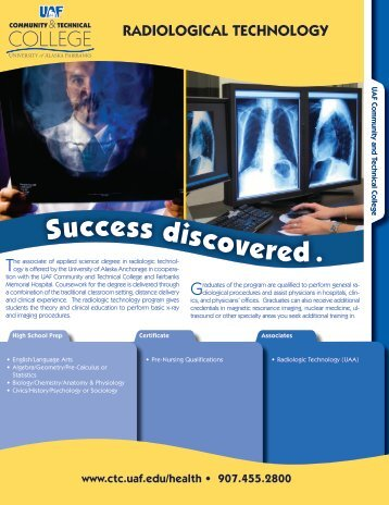 Radiologic Technology Pathway - UAF Community and Technical ...