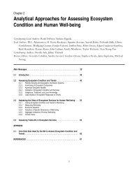 Analytical Approaches for Assessing Ecosystem Condition and ...