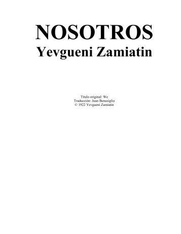 0002 Zamiatin - Nosotros