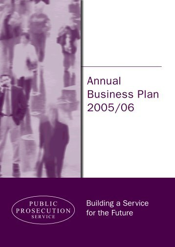 Annual Business Plan 2005 - Public Prosecution Service