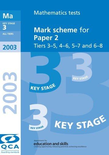 KS3 Mathematics tests Mark scheme for Paper 2 Tiers 3–5 ... - Emaths