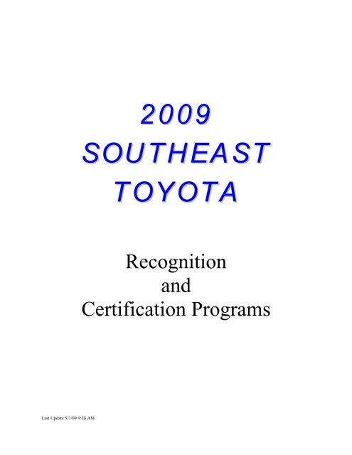 Southeast Toyota Pros Ten