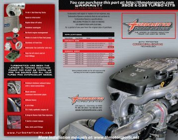Turbonetics Nissan 350Z G35 turbo kits.pdf - THMotorsports.net