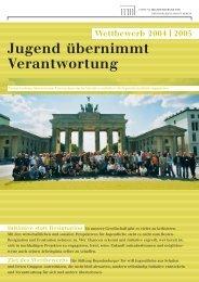 Jugend übernimmt Verantwortung - Stiftung Brandenburger Tor