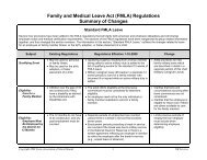 (FMLA) Regulations Summary of Changes - Anthony, Texas ...