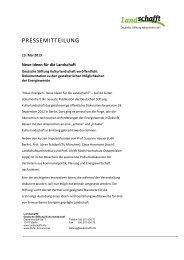 Pressemitteilung 13. Mai 2013 - Deutsche Stiftung Kulturlandschaft