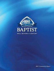 2011 Community Report - Baptist Memorial Online
