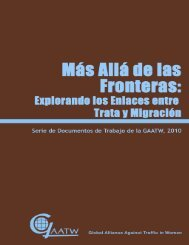 migración y trata - Global Alliance Against Traffic in Women