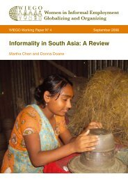 Informality in South Asia: A Review - WIEGO