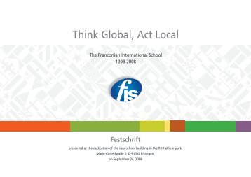 Festschrift - the Franconian International  School