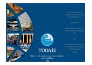 Public Administration Institute For Turkey And the Middle ... - todaie
