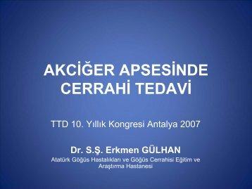 AKCİĞER APSESİNDE CERRAHİ TEDAVİ