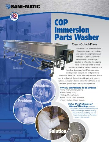 COP Immersion Parts Washer - Holland Applied Technologies