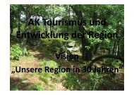 AK Tourismus und Entwicklung der Region