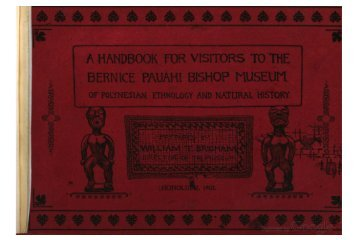A handbook for visitors to the Bernice Pauahi Bishop Museum of ...