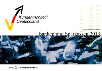 Kundenmonitor Deutschland 2013 - Sparda-Banken