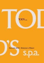 Esercizio 2012 - Tod's