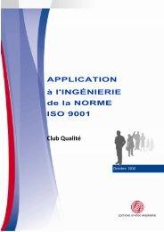 'application à l'ingénierie de la norme ISO 9001 - Syntec ingenierie