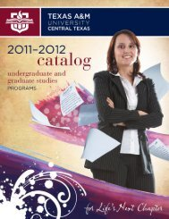 download 2011-2012 TAMUCT Complete Catalog - Texas A&M ...
