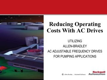 Reducing Operating Costs with AC Drives Sampler - Ohiowater.org