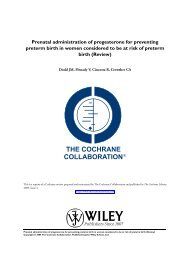 Prenatal administration of progesterone for preventing preterm birth ...