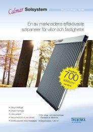 En av marknadens effektivaste solpaneler för villor och fastigheter