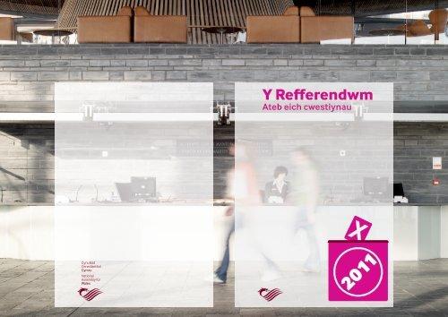 Y Refferendwm - Cynulliad Cenedlaethol Cymru