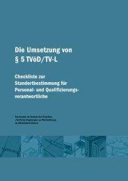 Die Umsetzung von § 5 TVöD/TV-L - FATK - Universität Tübingen