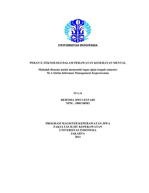 Makalah Sim Hernida Pdf Fik Ui Universitas Indonesia