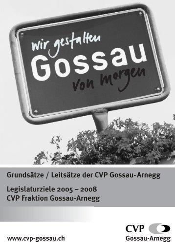 Legislaturziele - CVP Gossau