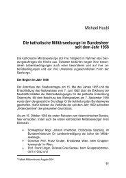 Michael Haubl Die katholische Militärseelsorge im Bundesheer seit ...