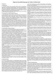 Allgemeinen Nutzungsbestimmungen - TeleSon Vertriebs GmbH