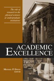 EXCELLENCE ACADEMIC - Research Corporation