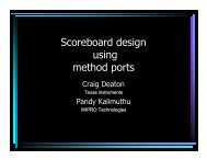 Scoreboard Design Using Method Ports